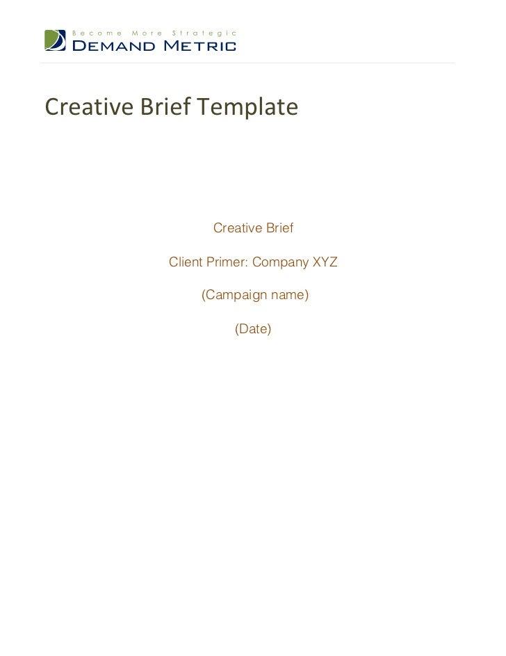 Creative Brief Template DpJ2gu9t