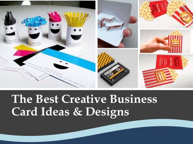The Best Creative Business Card Ideas Designs