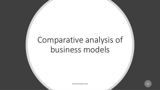 Comparative analysis of business models 37