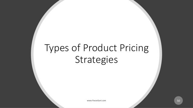 Types of Product Pricing Strategies 50