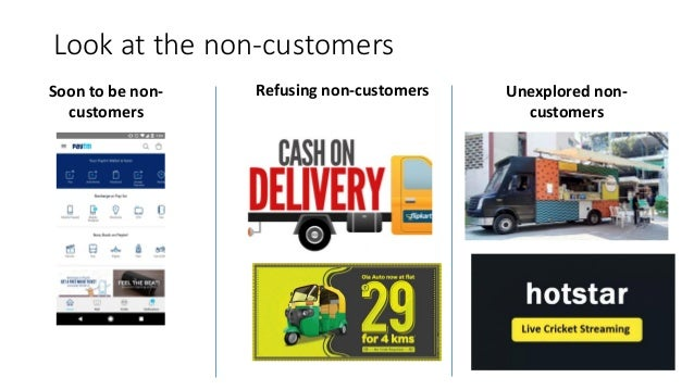 Look at the non-customers Soon to be non- customers Refusing non-customers Unexplored non- customers