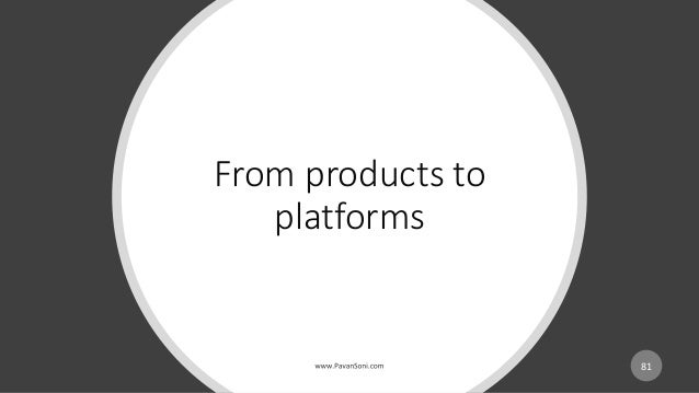 From products to platforms 81