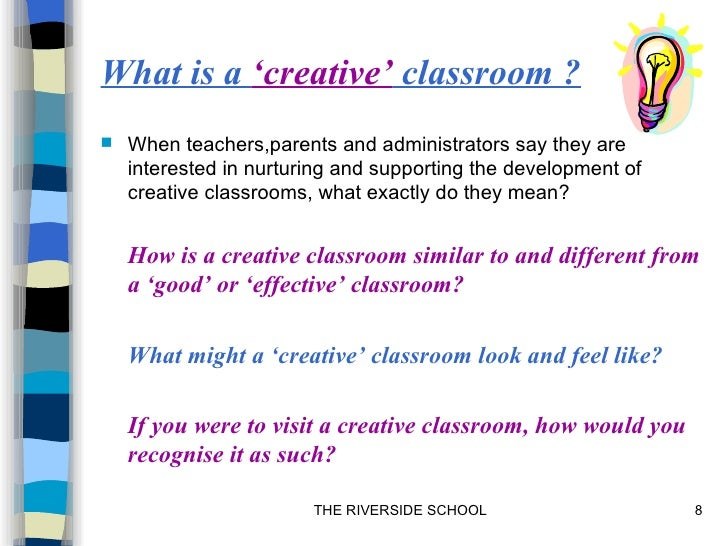 Creative classroom workshop