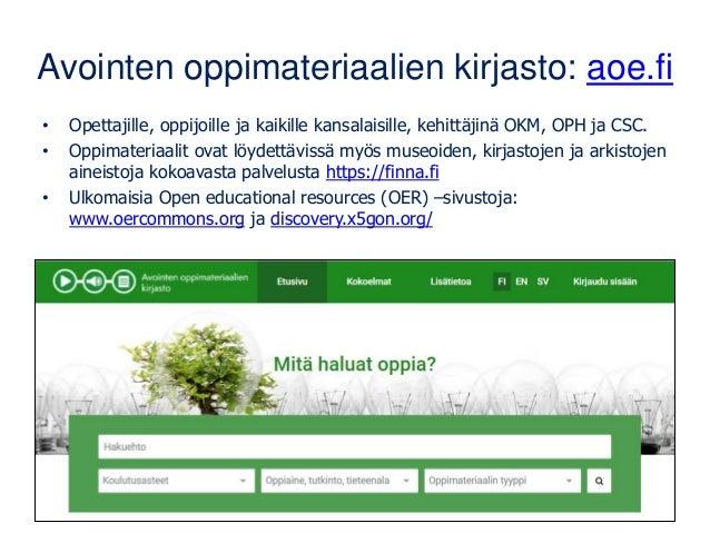 Suomen kaikki avoin data yhdestä paikasta: www.avoindata.fi/fi
