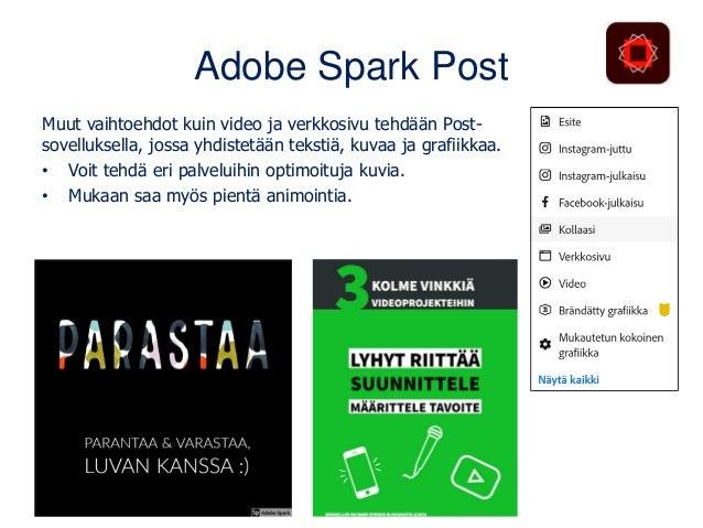 Interaktiivisiksi Thinglinkillä tai H5P:llä Spark-videosta interaktiivinen ThingLinkillä: www.matleenalaakso.fi/2020/12/ki...