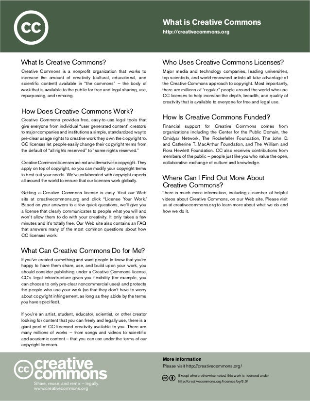 What is Creative Commons http://creativecommons.org  What Is Creative Commons?  Who Uses Creative Commons Licenses?  Creat...