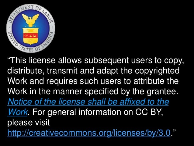 """""""This license allows subsequent users to copy,  distribute, transmit and adapt the copyrighted  Work and requires such use..."""