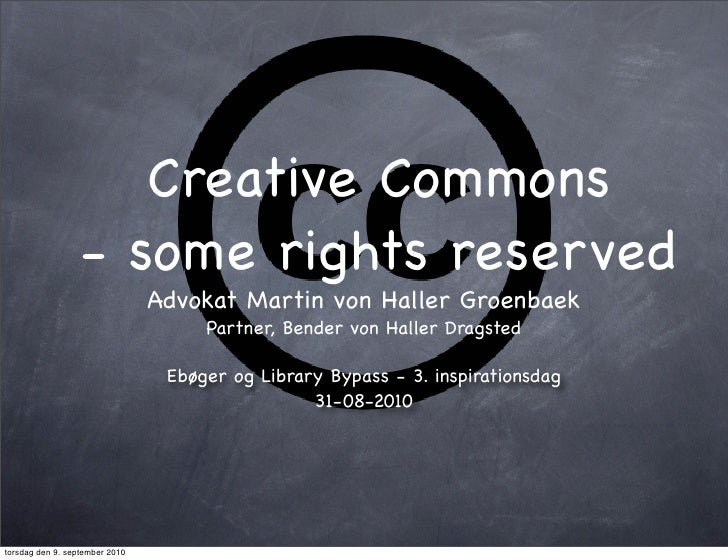 Creative Commons                   - some rights reserved                                 Advokat Martin von Haller Groenb...