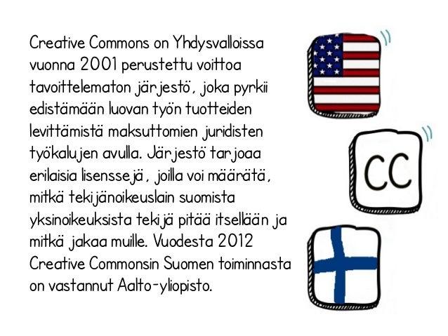 Creative commons lisenssit Slide 2