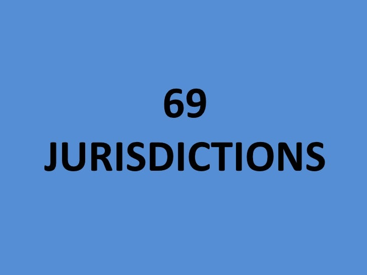 69 jurisdictions<br />
