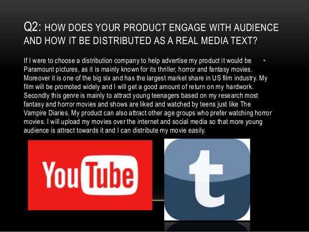 Q3: HOW DID YOUR PRODUCTION SKILLS DEVELOP THROUGHOUT THIS PROJECT. •I was always anxious to know what happens in media in...