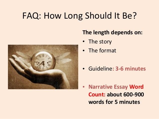how long should a personal narrative be