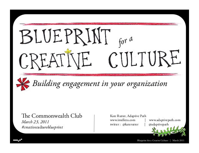 Building engagement in your organization Blueprint for a Creative Culture | March 2011 e Commonwealth Club March 23, 2011...