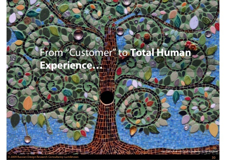 from  u201ccustomer u201d to total human