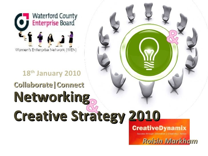 Networking   Creative Strategy 2010 Collaborate|Connect Roisin Markham 18 th  January 2010