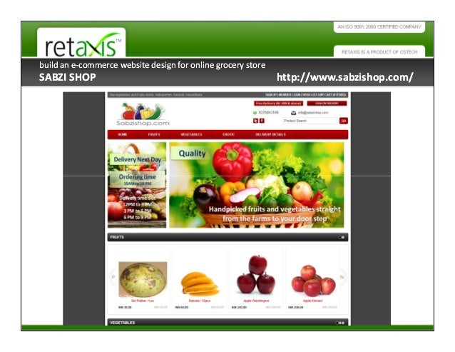 Creative Ecommerce Website Design Features for Online Grocery Store