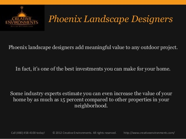 Phoenix Landscape Designers: Why Hiring a Designer is a Sound Investment