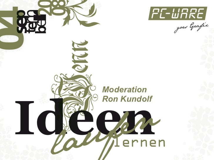 Moderation  Ron Kundolf