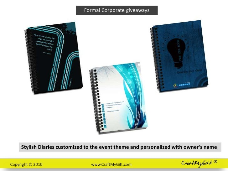 Giveaways ideas for corporate events