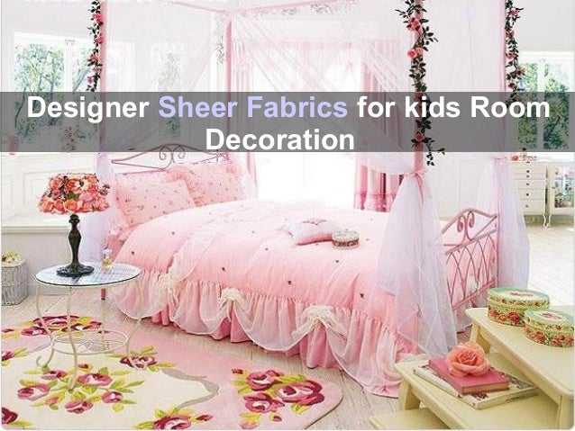Floral Fabric Design Decoration For Kids Room 6