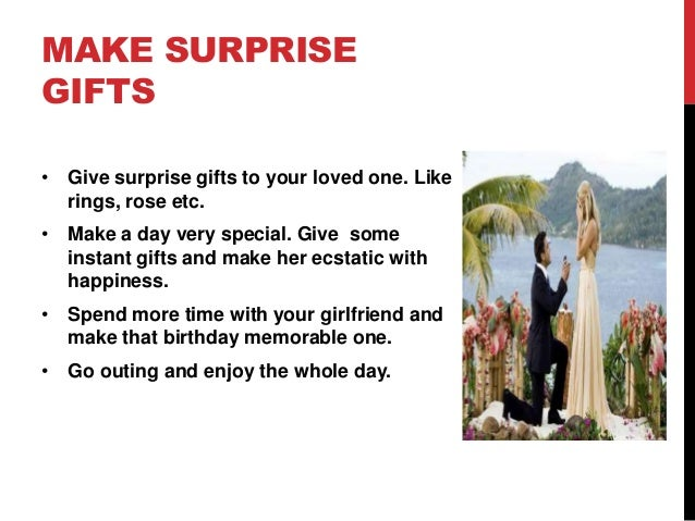 What Surprise To Give Your Girlfriend On Her Birthday