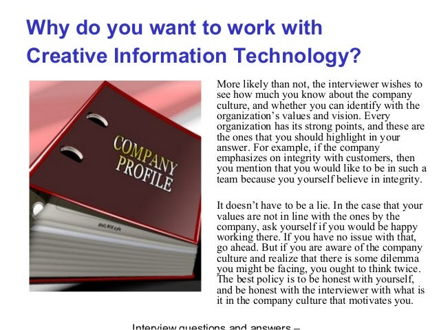 creative information technology interview questions and