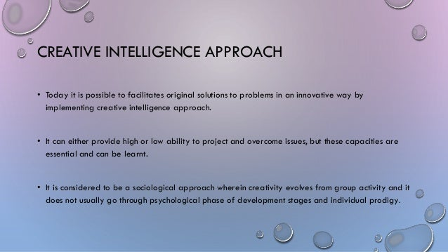 difference between creativity and intelligence pdf