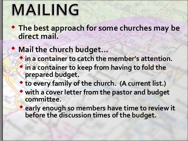creatively present your church budget
