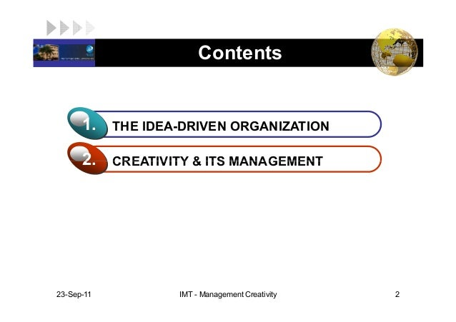 creativity management Creativity and innovation management 13k likes creativity and innovation management is an academic journal bridging the gap between the theory and.