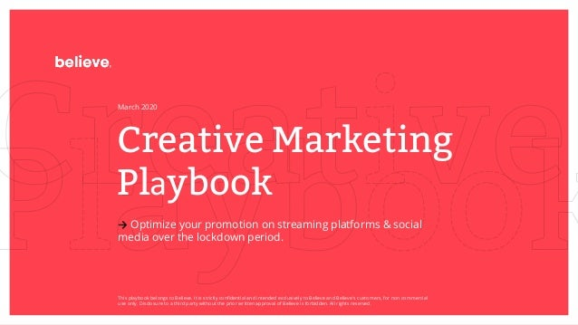 Creative Marketing Playbook → Optimize your promotion on streaming platforms & social media over the lockdown period. Marc...