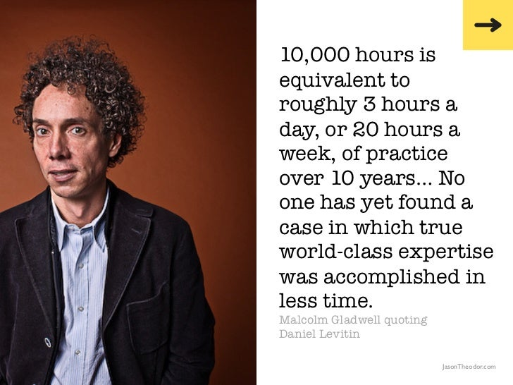 Kaidah 10.000 jam Malcolm Gladwell