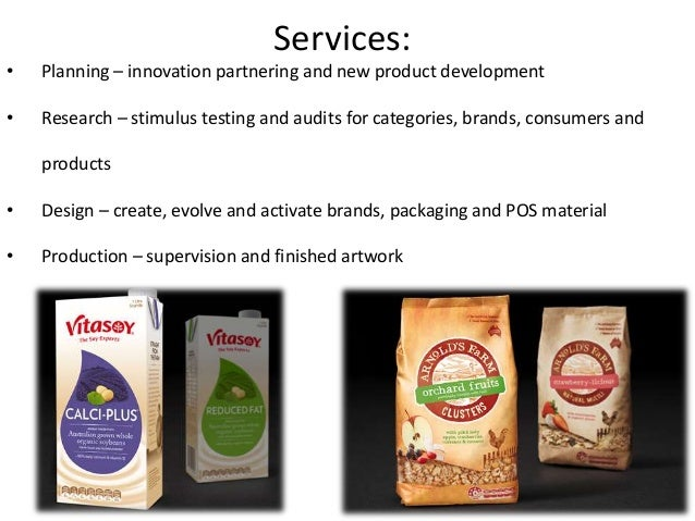 • Planning – innovation partnering and new product development • Research – stimulus testing and audits for categories, br...