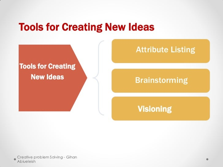 Tools for Creating New Ideas                                   Attribute Listing Tools for Creating    New Ideas          ...