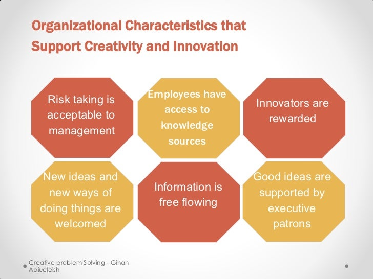 Organizational Characteristics thatSupport Creativity and Innovation                                   Employees have     ...