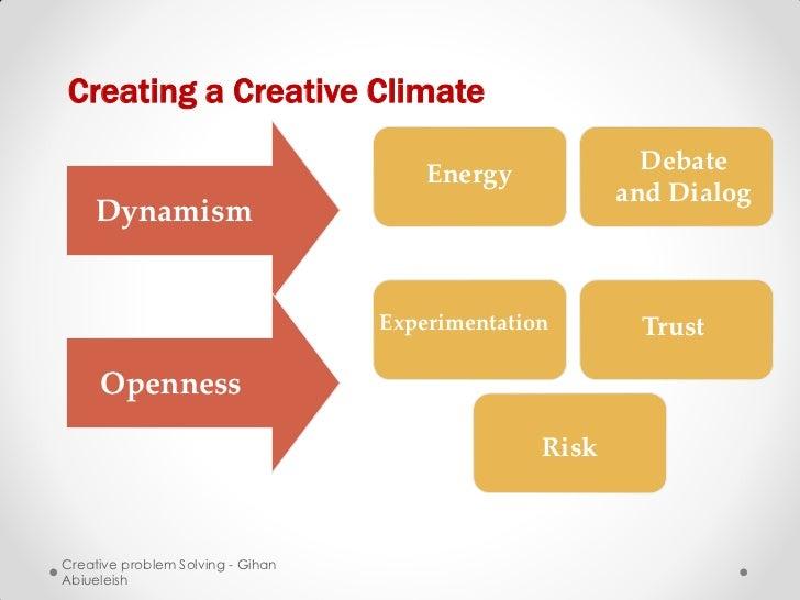 Creating a Creative Climate                                       Energy             Debate                               ...
