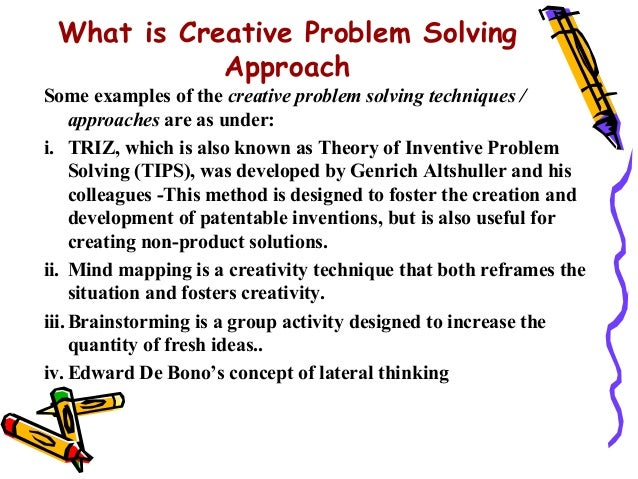 13 what is creative problem solving approachsome examples