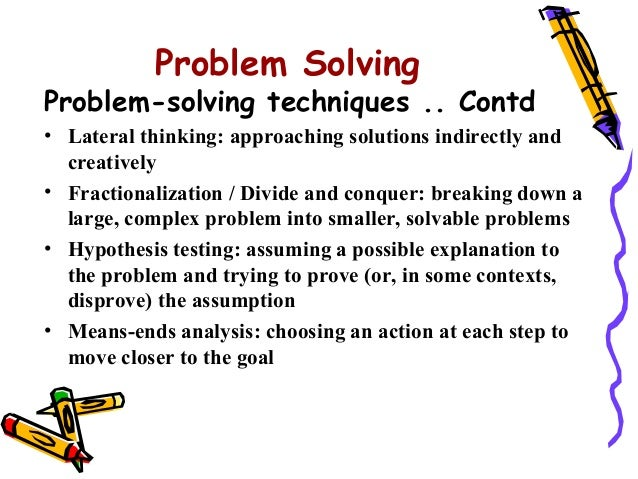 definition of problem solving skills in the workplace