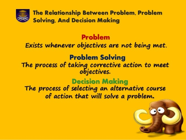 relationship between problem solving and decision making