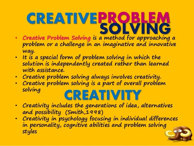 creative problem solving scenario Employers want employees who can work through problem-solving, critical  thinking,  here are a list of suggested workplace scenarios give each small  group.