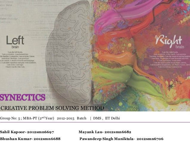 creative problem solving synectics ppt