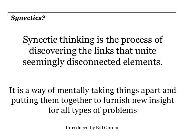 synectics method of creative problem solving