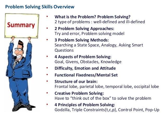 types of problem solving skills