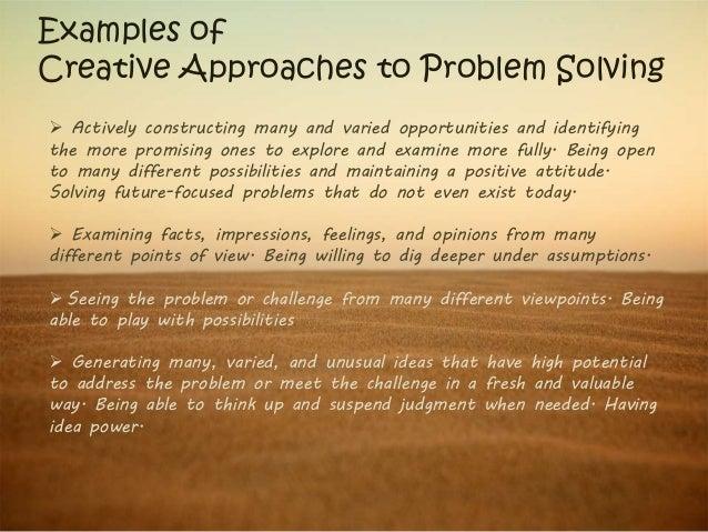 Creative problem solving ssv