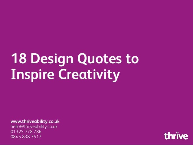 design quotes to inspire creativity