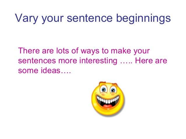 retell sentence starters