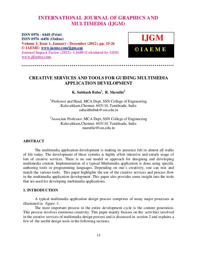 International Journal of Graphics and Multimedia (IJGM), ISSN 0976 – 6448(Print), ISSN 0976 –          INTERNATIONAL JOURN...