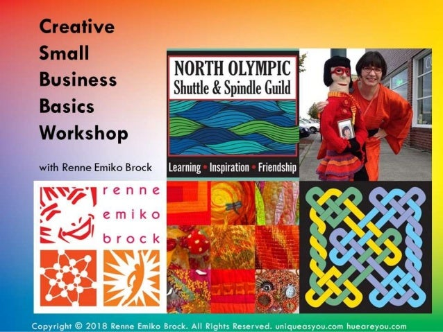 Creative Small Business Basics Workshop with Renne Emiko Brock