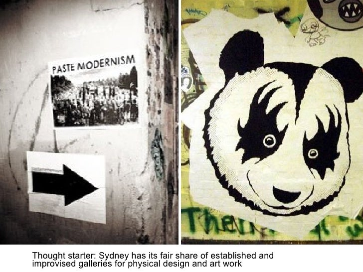 Thought starter: Sydney has its fair share of established and improvised galleries for physical design and art work