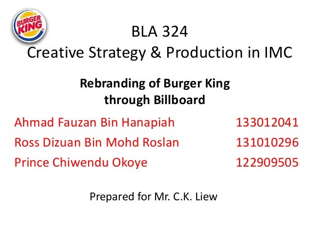burger king factors of production Marketing plan of burger king outlines its overall marketing  the social-cultural factors vary from country to  • began the business with burger and fries.