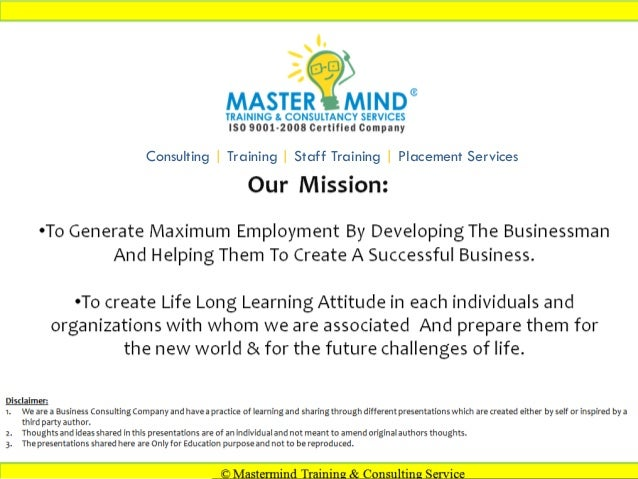 ©Copyright to Mastermind . Topic: Creativity in advertisement Presented by Farid Lakhani Consulting | Training | Staff Tra...